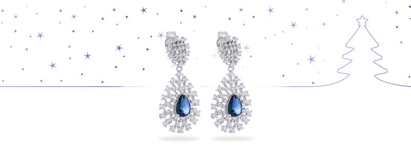D4085OR0020-R50-orecchini-Argento-pendente-a-goccia-con-zirconi-bianchi-centrale-blu-gioielli-di-valenza