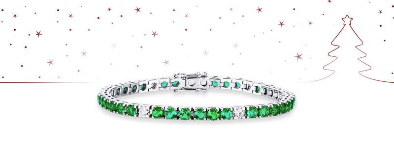 natale-2018-DTENQ10BBS-bracciale-tennis-oro-bianco-smeraldi-diamanti-18k-gioiellidivalenza
