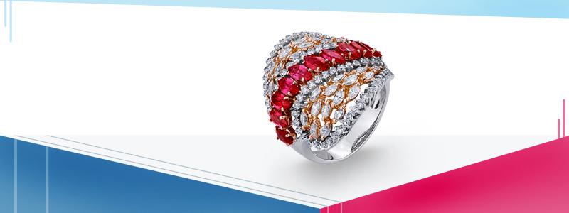 Anello-in-oro-bianco-e-rosa-18k-con-navette-di-rubini-e-diamanti-ANN2309RBR-gioielli-di-valenza
