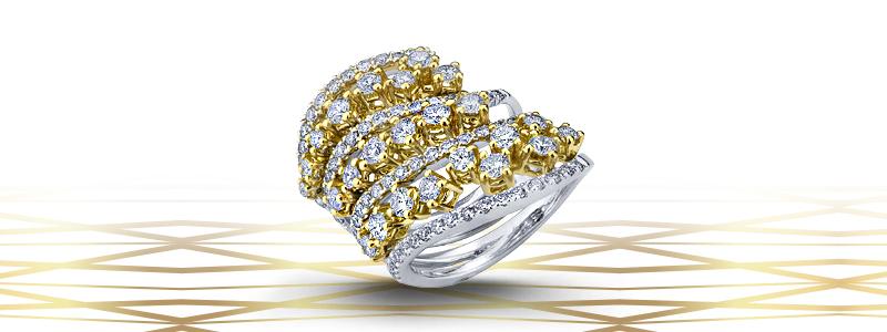 anello-in-oro-giallo-e-bianco-onde-18k-con-diamanti-ANN2417GB-gioielli-di-valenza-