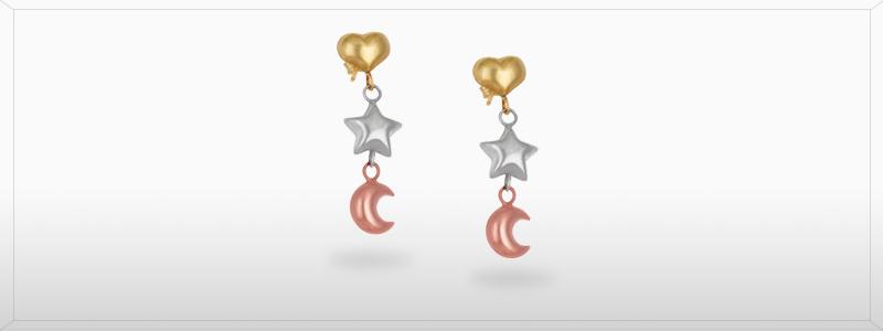 FAC749200-Orecchini-in-oro-bianco-giallo-rosa-18k-cuore-stella-luna-gioielli-di-valenza