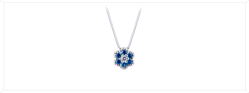 CIN2340BBBZ-Collana-in-oro-Bianco-18k-con-fiore-in-zaffiri-blu-e-diamante-gioielli-di-valenza