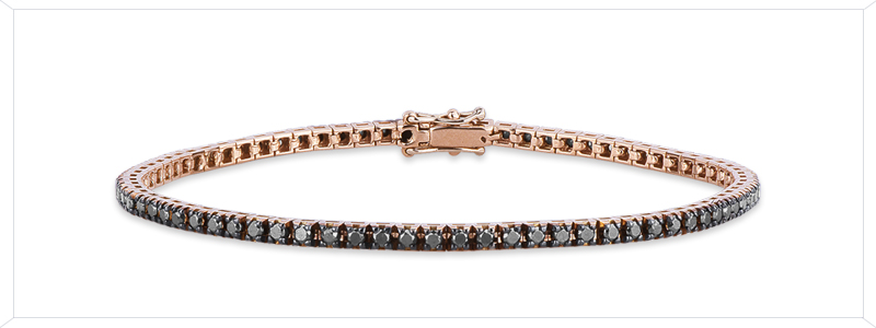 DTENG015RNX-Bracciale-Tennis-in-oro-Rosa-18k-con-diamanti-neri-gioielli-di-valenza
