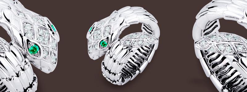 TANS1001CBBS-Anello-in-oro-bianco-18k-a-serpente-con-diamanti-e-smeraldi-collezione-wild-gioielli-di-valenza