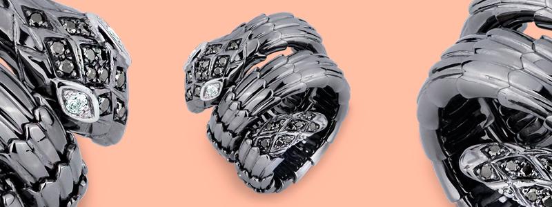 TANS1001LBBN-Anello-in-oro-bianco-brunito-18k-a-serpente-con-diamanti-neri-e-bianchi-collezione-wild-gioielli-di-valenza