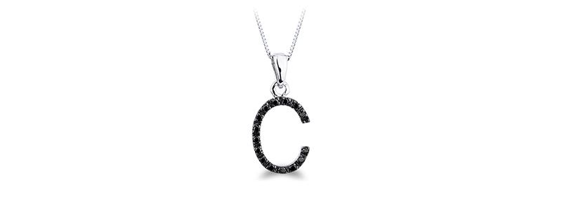 CILET01-CBN-Collana-lettera-c-in-oro-bianco-18k-con-diamanti-neri-gioielli-di-valenza