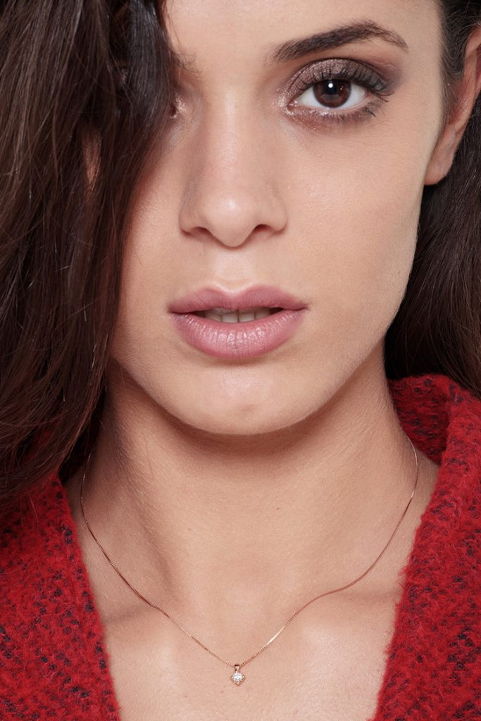 PU03015RB_IND-Collana-Punto-luce-in-oro-rosa-18k-con-diamante-gioielli-di-valenza