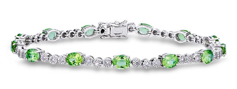 VTENAFST54-14BBPER-Bracciale-in-oro-Bianco-18k-con-Peridoti-e-Diamanti-gioielli-di-valenza