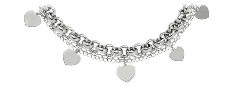 D5005BK0696-R19-5-Bracciale-in-argento-925-a-due-fili-con-charms-a-Cuore-gioielli-di-valenza